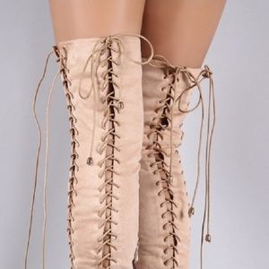Over the knee corset boots